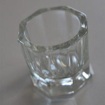 Vasito vidrio claro organic nails