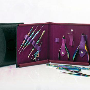 Manicura set de herramientas color titanio