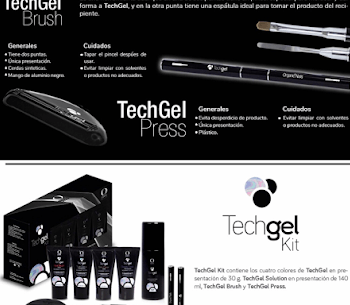 kit tech gel organic nails