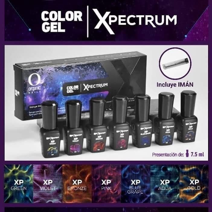 Colección Color Gel Xpectrum Organic Nails